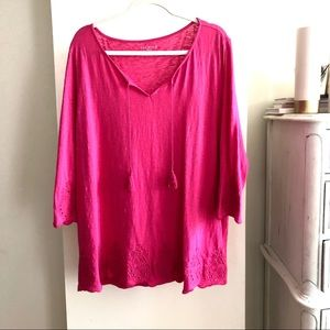 Talbots Loose 3/4 Sleeves Top. Size 2X